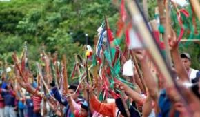 400  guardias indígenas dieron  la bienvenida a primeras delegaciones de la V Cumbre Continental de Pueblos Indígenas