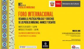 Perú, Se organiza foro sobre políticas y derechos de los pueblos indígenas