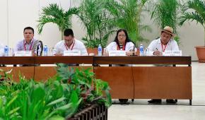 Saludo de la Delegación de las FARC a la Delegación Indígena de la MPC