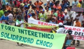 Minga del Chocó continúa caminando la palabra
