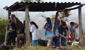 Minga comunitaria para la protección del territorio Muisca